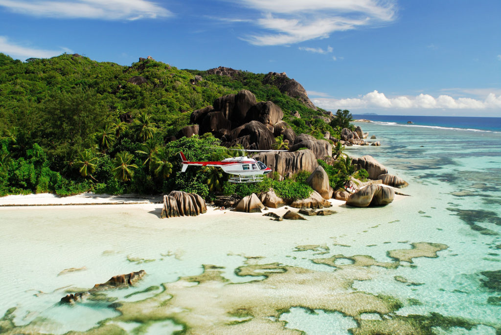 Seychelles Helicopter